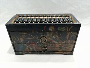 Chinese Abacus Jewelry Box 13 Rods 91 Beads