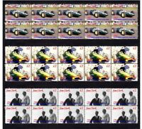 JIM CLARK 1963 LOTUS F1 W/CHAMP SET OF 3 MINT VIGNETTE STAMPS