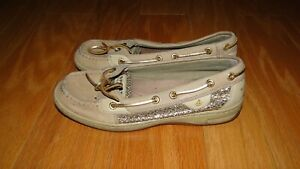 Women's Sperry Top Siders Boat Shoes Size 6.5 Leather 9101759 Gold Angelfish