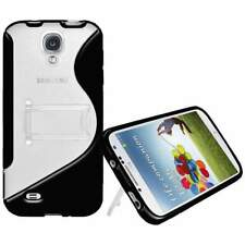 NEW AMZER BLACK PROTECTIVE TPU HYBRID CASE W/ STAND FOR SAMSUNG GALAXY S4 I9500