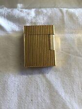 briquet dupont plaqué or