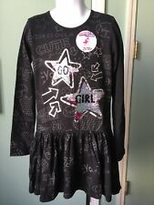 """Desigual"" Girl's Cotton  Dress With Siquens Design Size 7/8 MFRP $84.00"