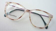 Ama Kunststoff-Brille Damenfassung Vintagegestell beigebraun Hornoptik Grösse S