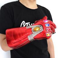 2019 Iron Man Nano LED Gloves Thanos Infinity Gauntlet Avengers 4 Endgame Toys