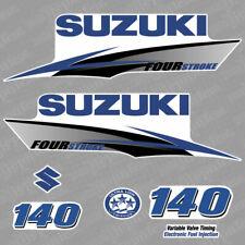 Suzuki 140 Four stroke (2010) blue outboard decal aufkleber adesivo sticker set