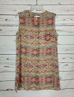 Cabi Women's M Medium Coral Boho Sleeveless Cute Summer Avery Tunic Top Tank $79