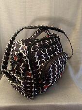 Ju Ju Be Be Prepared Diaper Bag, Black & White Stripes - shoulder strap