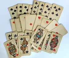 Antique Playing Cards - TAROCK/Piatnik Made by JOSEFF GLANZ Wien Half Set of 27
