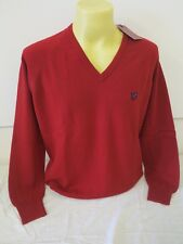 LYLE & SCOTT HERITAGE MENS LONG SLEEVE PULLOVER TOMATO RED XL 100% PURE LAMBWOOL