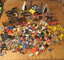 Huge Vtg Playmobil Indian Animals People Construction Accessories Weapons