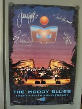 The Moody Blues All 4 Band Signed Autographed 24x36 Poster BAS Certified