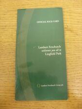 13/12/1997 Horse Racing Programme/Race Card: Linfield - Lambert Fenchurch Welcom