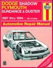 1987-1994 Haynes Dodge Shadow, Plymouth Sundance & Duster Repair Manual