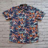 Patagonia Hawaiian Floral Organic Cotton Shirt Size L Pataloha Birds