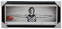 Nat Fyfe Signed Mini Wings Fremantle Print AFL Official Print Framed Brownlow