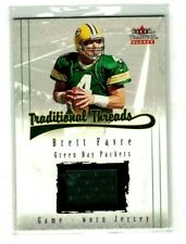 BRETT FAVRE 2001 FLEER TRADITION GLOSSY TRADITIONAL THREADS GAME USED JERSEY