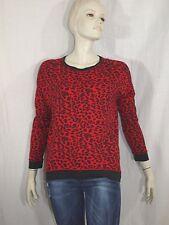 MANGO Taille M 38  Superbe tee shirt manches longues rouge et noir ou sweat femm