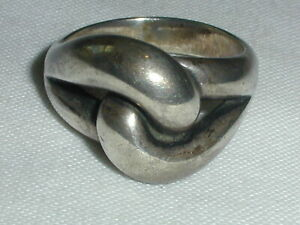 RETIRED JAMES AVERY STERLING CADENA LOVE ETERNITY KNOT RING- SIZE 7 1/2!