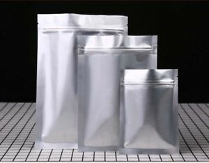 Aluminium Foil Bags Mylar Foil Sachet Pouch Zipper Bags Heat Seal - Food Grade