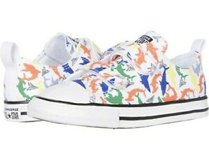 New Adorable Converse Chuck Taylor All Star Shark 2V Toddler Boys shoes Size 10T
