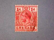 Grenada. KGV 1916 1d Scarlet. SG92. Wmk Mult Crown CA. P14. Used.