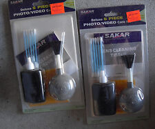 Lot of 2 Sakar Deluxe 5 Piece Photo Video Care Cleaning Kits NIP