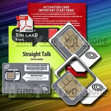 VERIZON unlocked GSM smartphones SIM KIT for Straight Talk on AT&T 4G LTE towers