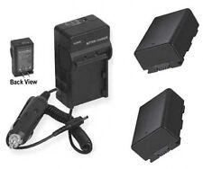 2 Batteries + Charger for Samsung HMXH304BN HMX-H304BN/XAA HMXH304 HMX-H304SN