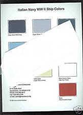Italian  Navy  WW 2 Ship Color paint chip charts