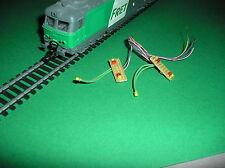 HO 1:87 Railroad Train 3mm Bulb,w// Resistor PURPLE LED LIGHTS 20 PCS 12 Volts