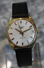 LONGINES --- Vintage Conquest HF 18K Yellow Gold Mechanical Caliber 6952