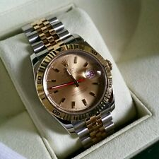 Q175 Mens 18ct gold Rolex Datejust Turn-O-Graph full set mint condition watch