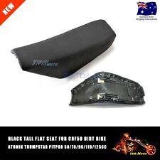 CRF50 Black Tall Flat Seat Fit - ATOMIK THUMPSTAR PITPRO 50/70/90/110/125CC Dirt