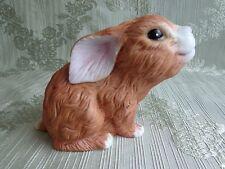 Porcelian Bunny Rabbit Figurine - Snuggle Babies - River Shore 1988