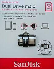 Sandisk Ultra 32GB Dual USB m3.0 micro USB OTG Stick 150MB/S SDDD3-032G NEU&OVP