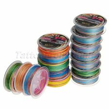 8 Strands 100M Multi-color Saltwater Spectra Braided PE Fishing Line 12LB-125LB