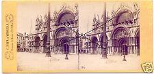 19562/ Stereofoto 9x17,5cm, C. Naya, Piazza S. Marco, Venedig, ca. 1870