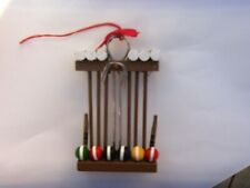 Croquiet Game Christmas Ornament Made Of Wood New
