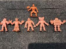 Lot of 5 Vintage Flesh M.U.S.C.L.E. Muscle Men Action Figures + He-Man