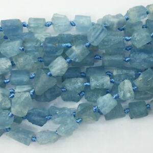 13X10-11X8MM  Aquamarine Gemstone Grade AB Faceted Nugget Loose Beads 15.5 inch Full Strand 80001492-A95
