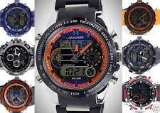 Relojes de pulsera Deportivo de cuero de fecha