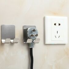 Metal Wall Adhesive Sticking Phone Charging Plug Holder Razor Sopport Rack Hook