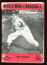 1950 Who's Who in Baseball With Mel Parnell Cover