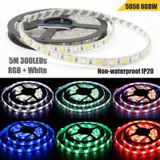 WOW - 5m RGBW Cool White 5050 SMD 300 LEDs Flexible Strip Light Lamp Home Decor