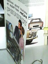 BEAU CATALOGUE 1967 GAMME PEUGEOT 404 9cv, INJECTION, SUPER LUXE, DIESEL