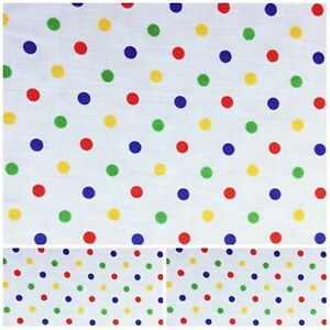 Polycotton Fabric MINI SPOTTED DOT SPOT  Metre Material Special Offer