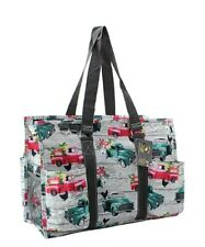 Zip Utility Tote Organizer w/pockets purse bag NWT NGIL FREE SHIP Vintage Trucks
