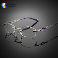 5f78806adf9 Women s Rimless Purple Reading Glasses UV400 Coating Lens Reader +0.00  ~+5.00
