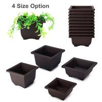 Vintage Style Plastic Flowerpot Square Pot For Potted Plant Home Bonsai