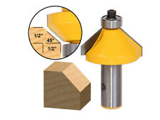 """45 Degree Chamfer Edge Forming Router Bit - 1/2"""" Shank - Yonico 13106"""